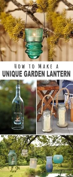 We found some great projects ideas and tutorials for you on How to Make a Unique Garden Lantern! Explore this post to find your next fantastic DIY outdoor lighting project! - Outdoor Lighting - Ideas of Outdoor Lighting Diy Garden Projects, Garden Crafts, Outdoor Projects, Garden Art, Garden Design, Outdoor Crafts, Diy Crafts, Garden Ideas, Patio Ideas