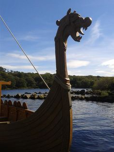 Roundwood Historical Society's longship at Lough Dan, County Wicklow, Ireland