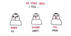 I feel... #German #deutsch