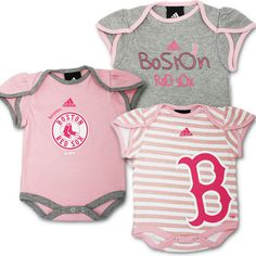 $25 Red Sox Baby Girl Body Suits (3-Pack)