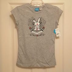 """It's Happy Bunny Pajama Set M NWT Tee & Bottom It's Happy Bunny Pajama Set Size M NWT Tee Shirt & Bottom. """"2 Cute 2 Talk 2 You"""" printed on tee center front & randomly printed on bottoms, **Originally Purchased Separately, Top Was $18 Bottom Was $22** It's Happy Bunny/Jim Benton/Briefly Stated Intimates & Sleepwear Pajamas"""