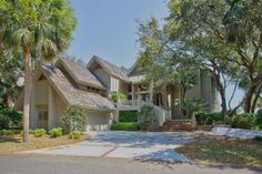 Nice Sea Pines home and it does have an elevator for use with the owner's permission.  Located at 23 S. Beach Lagoon, oceanfront featuring 8 bedrooms and 8 baths, expansive views with a private pool.  Sleeps 20.