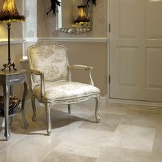 The smooth brushed finish on the surface of the tile makes the Crema Pearl Polished Marble a stylish, elegant and strong stone.