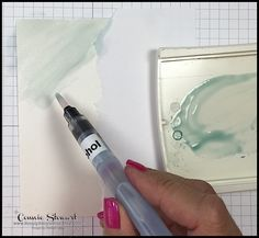 TEACH Me That! Learn how to create the DOUBLE WATERCOLOR WASH TECHNIQUE at www.SimplySimpleStamping.com - look for the August 24, 2017 blog post
