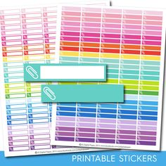 Paperclip stickers, Work stickers, school stickers, filing, Office stickers, STI-166