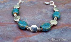 Blue/Green Porcelain Bead Bracelet