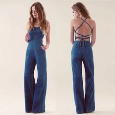 All denim jumpsuit so 70s