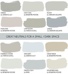 Before you paint a small room white read this article where Emily Henderson shares why a neutral c&; Before you paint a small room white read this article where Emily Henderson shares why a neutral c&; Living Pequeños, White Rooms, Dark Rooms, Dark Living Rooms, Cottage Living Rooms, Living Room White, Farrow Ball, Farrow And Ball Paint, Farrow And Ball Bedroom