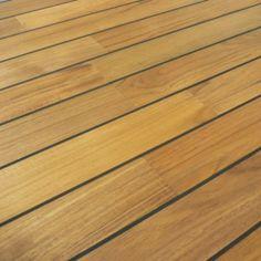 Colours Bali Natural Teak Boat Effect Real Wood Top Layer Flooring