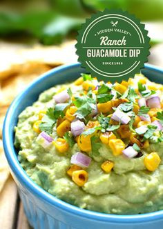 This Easy Guacamole Dip comes together two ingredients! Add your favorite garnishes to jazz it up, or serve it as is. Either way, it's guaranteed to become a quick & easy crowd favorite! Ingredients 2 c. Avocado Recipes, Dip Recipes, Mexican Food Recipes, Great Recipes, Cooking Recipes, Favorite Recipes, Meatless Recipes, Mexican Dishes, Yummy Recipes