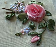 how to do ribbon embroidery for beginners - Google Search