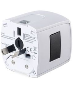 Go Travel Non-Earthed Worldwide Adapter - White