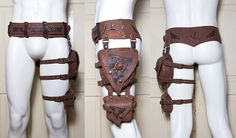Belt and leg pouches. I can TOTALLY see Nhamei wearing this<<<<creepy mannequin tho. :S