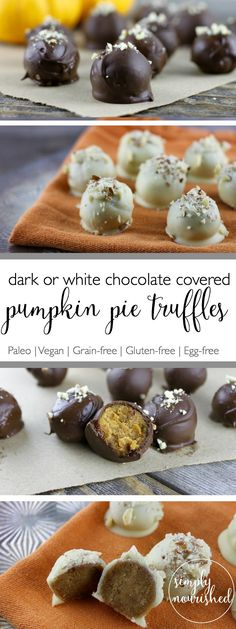 Treat yourself to these Pumpkin Pie Truffles | Paleo | Vegan | Grain-free | Dairy-free | therealfoodrds.com