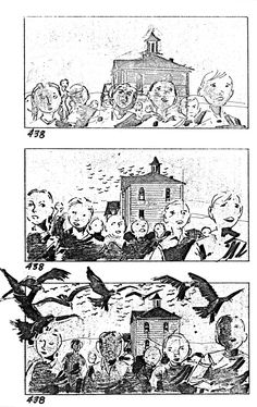"""Alfred Hitchcock : """"The birds"""",  1963 // Story Board"""