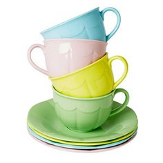 Rice DK Retro Melamine Cups and Saucers