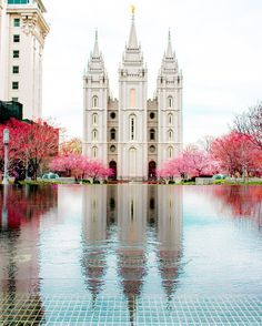 Salt Lake City Utah Temple March Spring is showing! Lds Pictures, Temple Pictures, Salt Lake Temple, Salt Lake City Utah, Utah Temples, Lds Temples, Later Day Saints, Beautiful Places, Beautiful Pictures
