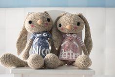 Free crochet pattern(bunny) - Patrón gratis de un conejo - CROCHET