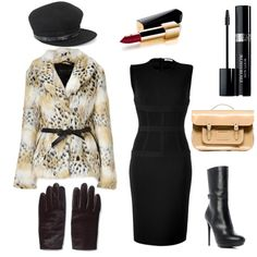 A very chic look for the Bundle Up! fashion challenge