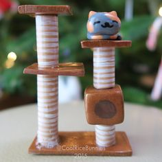 I made my sister a Neko Atsume figurine with polymer clay and she loved it - Imgur