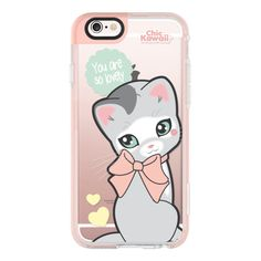 Cutie Chic By Chic Kawaii - iPhone 6s Case,iPhone 6 Case,iPhone 6s... (€36) ❤ liked on Polyvore featuring accessories, tech accessories, iphone case, apple iphone cases, iphone hard case, clear iphone cases, iphone cases and iphone cover case