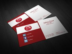 Stylish free business card mockup for single sided designsavailable free red corporate business card template vol colourmoves