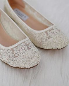 3d587aa106 Soft and Elegant lace women ballet flats. Comfortable through out your  special day and perfect