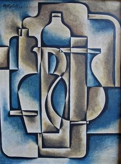 Untitled (Costigliolo, Jose Pedro. 1948) - Although the use of geometric shapes are present, the piece has a good blend of colours and uses circular shapes in a more abstract style.