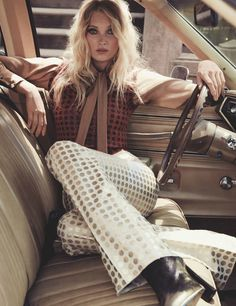 """The Trip"" Elsa Hosk for Marie Claire UK October 2015 - Bottega Veneta"