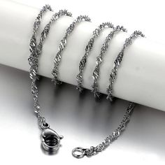 Fashion Titanium Steel Necklace Titanium Jewelry, Water Waves, Stainless Steel Necklace, Steel Chain, Bangles, Bracelets, Jewelry Shop, Chains, Online Shopping