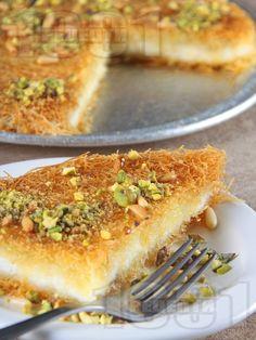 Рецепта за Кюнефе - класически турски десерт с кадаиф - начин на приготвяне, калории, хранителни факти, подобни рецепти