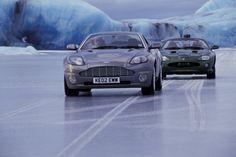 Aston Martin V12 Vanquish on ice!