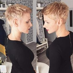 Süße kurze Haare Sweet short hair Related posts: 97 Interesting Braids for Short Hair 2019 Womens hairstyles for short hair Nice hairstyles for short hair over 50 Short haircuts for fine hair. Haircuts for short hair. Super Short Hair, Short Hair Cuts, Pixie Cuts, Hair Styles 2016, Curly Hair Styles, Androgynous Haircut, Cute Short Haircuts, Long Faces, Oval Faces