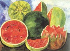Viva la Vida Sandias, 1954 [last painting of her life]