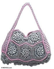 Crochet Handbag- Made with pull pop tabs