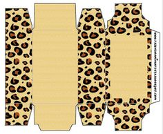Leopard - Full Kit with frames for invitations, labels for snacks, souvenirs and pictures! | Making Our Party