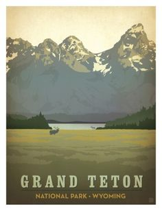 Grand Teton National Park Poster by Anderson Design Group at AllPosters.com