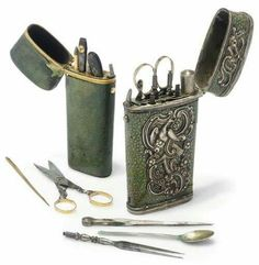 Shagreen etui with the tool set, 1760
