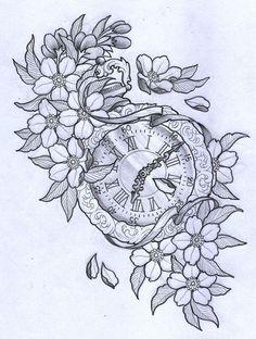 pocket watch tattoo design - Google keresés