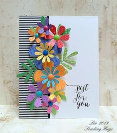 Simon Says.Bright Color Mood Board Simon Says Stamp Wednesday Challenge, May 22 - Bright Color Handmade Birthday Cards, Greeting Cards Handmade, Birthday Card Making, Simple Handmade Cards, Birthday Greeting Cards, Flower Cards, Birthday Cards With Flowers, Paper Flowers, Card Sketches