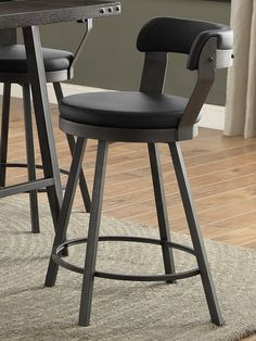 Homelegance Dorlores Counter Height Chair (set of 2) 5566-24BK