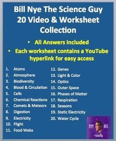 are worksheets for the following Bill Nye Videos. - Atoms - Atmosphere ...