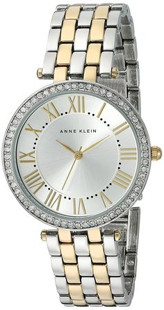 Anne Klein Women's Quartz Metal and Alloy Dress Watch, Color:Two Tone (Model: AK/2231SVTT) * Check this awesome watch by going to the link at the image.