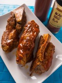 """Pressure Cooker Pork Western Shoulder Ribs recipe - boneless """"ribs"""" from the pressure cooker in a little over an hour. So simple it is barely a recipe - more of a technique."""