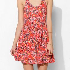 NWT Kimchi Blue Floral Knit Racerback Flare Dress Has a slightly open back! The material is so soft and lightweight making it perfect for the summer. Adorable on! The brand is Kimchi Blue. Feel free to use the offer button  Urban Outfitters Dresses