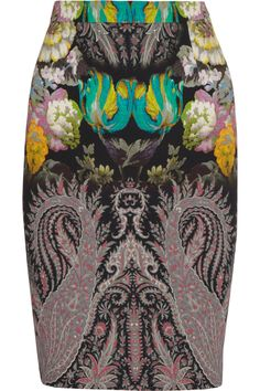 Etro | Floral and paisley-print crepe skirt | NET-A-PORTER.COM