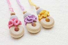 Beautiful simple Teething/ Nursing necklace by NecklacesForMommy, $12.00
