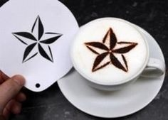 5 pointed round star stencil If you are a retailer and would like to apply to become a Love-Esppresso partner click here.  http://www.love-espresso.co.uk/