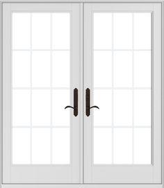ENCINO HINGED PATIO DOOR HARDWARE   EXTERIOR TRIM SET 2572653 (shown On Andersen  400 Series