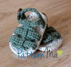 Crochet Baby Sandals Pattern Boy or Girl